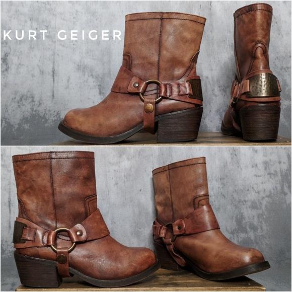 Kurt Geiger Sherylin Harness BikerMoto boots